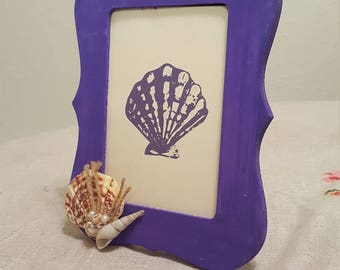 Decorated Framed SeaShell