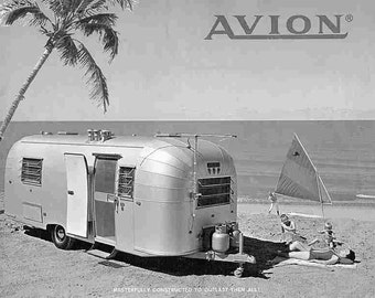 AVION TRAILER RV Operations & Tech Manual for 1966 1967 1968 1969 Camper Service and Repair