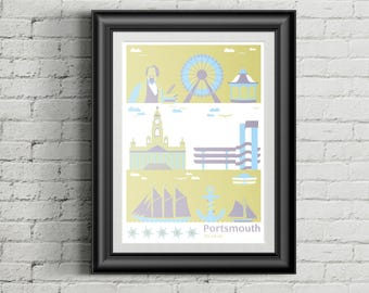 A2 Portsmouth Old City Poster