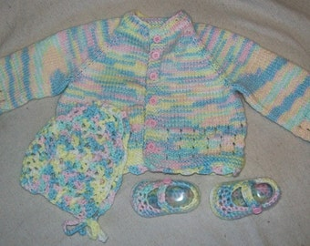 Baby Sweater Set - Handmade 3-6 months