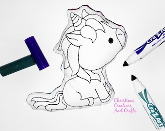 Ballerina, Unicorn Coloring Doll, coloring, doodling, washable