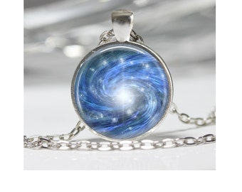 Space Necklace Galaxy Jewelry Planet Necklace Glass Pendant Necklace Space Necklace