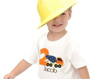 Construction Birthday Shirt Cement Truck