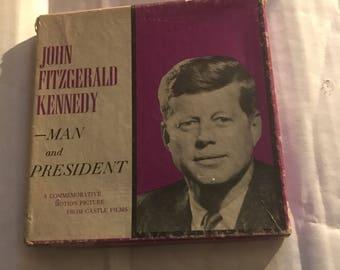 John F Kennedy vintage castle films 8mm