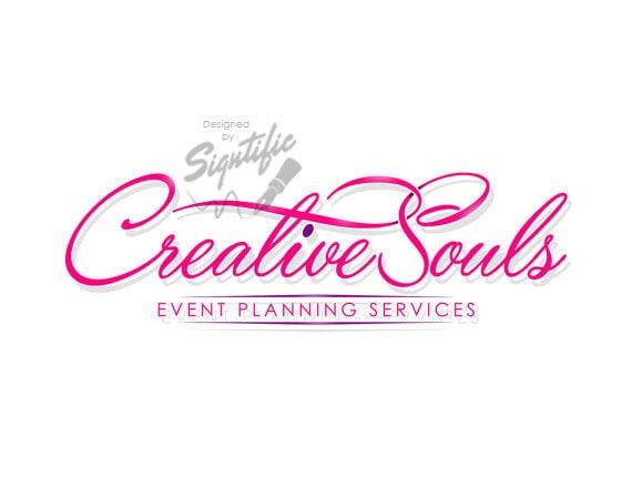 Small business logo, custom events planning logo design, pink logo, fuchsia logo, logo for advertisement, business logo for business card