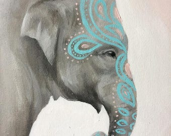 Bohemian Elephant Mother