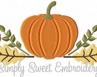 Pumpkin Swag Machine Embroidery Design