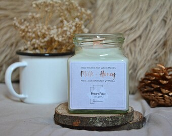 Milk & Honey - 8oz Candle - Rupi Kuar - Scented Soy Candle - Book Lover Gift