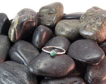 Malachite Stacking Ring, malachite ring, Sterling silver ring, sterling and malachite, green malachite, handmade malachite stacker