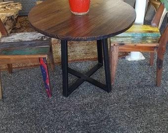 Round Modern Rustic Dinette Kitchen Table, Industrial Kitchen Table, Dining  Table, Cafe Table, Bistro, Restaurant Table, Dark Walnut