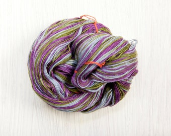 Silk Fingering Weight Thread Yarn - Eggplant in the Garden