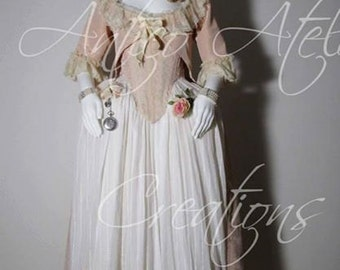 18 Century rococo French Court Dress - abito settecentesco donna XVIII sec Marie Antoinette dress
