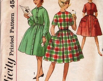 Bust 33-1950's Sub-Teens' Dress  Simplcity 4528 Size 14