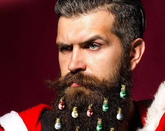 Beardaments Beard Ornaments Ugly Christmas Party Christmas Ornament Beard Baubles Christmas Decoration Beard Art Beard Bling Pack of 12
