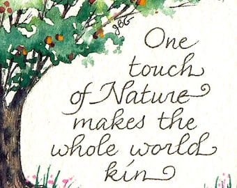 """Magnet - """"One touch of nature makes the whole world kin."""" Shakespeare"""