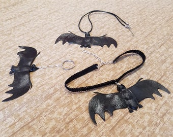 Vampire Bat Accessories - Halloween Chokers, Necklaces, Keychains, etc