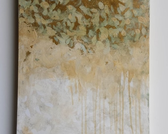 Concomitant; original painting on canvas with gold leaf