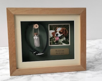 Pet Memorial Shadow Box Frame | Personalised Pet Loss Gifts | Oak Pet Frame | Personalized Dog Frame | Cat Keepsake | Pet Gift