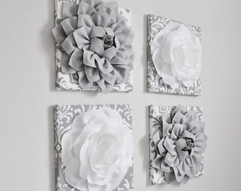 Victorian Bathroom Decor - Gray and white, Home Decor foral wall art - french country chic, Bathroom -Minimalist Grey Vintage Style, Bedroom