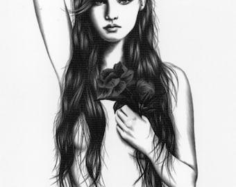 eingefärbte Mädchen nackt
