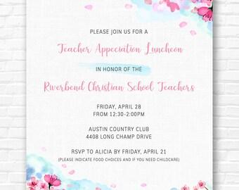 Watercolor Cherry Blossom Invitations