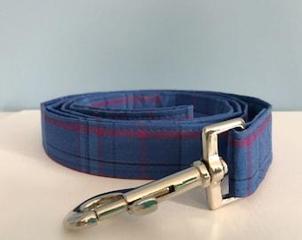 Blue and Purple Plaid Dog Leash
