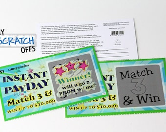 PROMposal Scratch Off (1 card) Lotto Replica Promposal Prom Scratcher Game Card