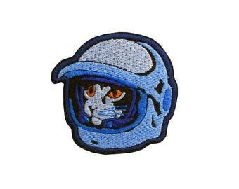 Retro Space Cat Embroidered Patch, Iron on Cat Patch, Cats in Space, Cartoon Cat Patch, Astronaut Cat , Cat with Space Helmet, Astro Cat