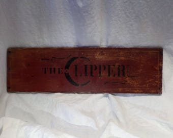 Sign, Advertising, The Clipper, Industrial Factory Salvage