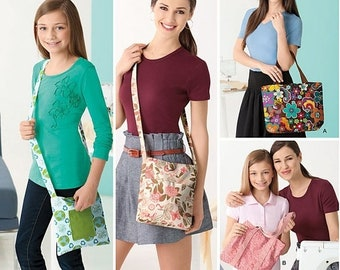 pattern Simplicity 2164, Learn to Sew, Bags Unuct Sewing Pattern
