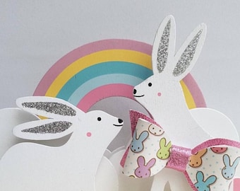 Easter rabbits Bow