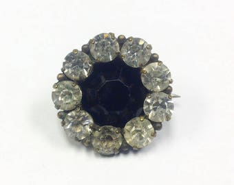 Antique, Edwardian, small paste brooch.