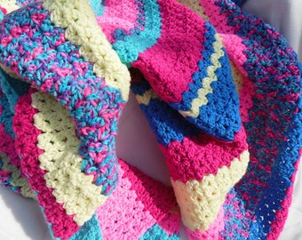 Roll of the Dice Blanket, Bright Spring Colors