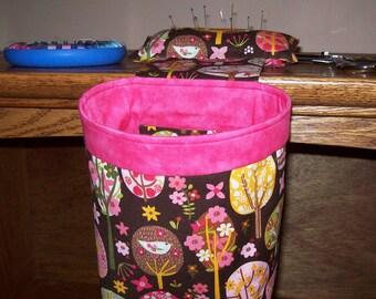 Thread Catcher, Scrap Caddy, Scrap Bag, Pin Cushion With Rubberized Gripper Strip