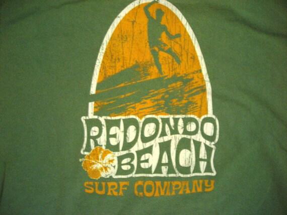 Recyclerog, Vintage Redondo Beach Surf Company Recycled Cotton Tshirt Large