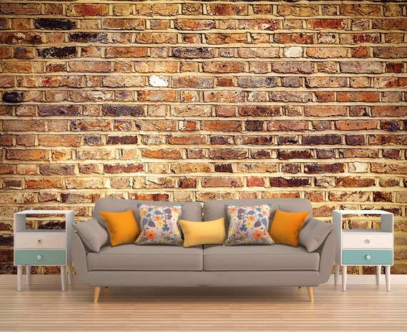 Faux Brick Wall Decal by PhotoDecorByDani