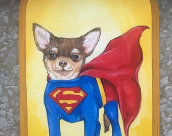 Superdog - Medium Cosplay Painting