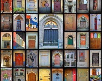 Doors of Wittenberg Germany 16x20 Photo Collage Print Lutheran Reformation Martin Luther Lutherstadt Deutschland