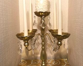 Gold 5 Arm Candelabra Centerpiece Gold Candle holder Wedding Decor Table Decor Party Decor