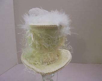 Mad Hatter Mini Top Hat,Alice in Wonderland Mini Top Hat, Costume Hat,Victorian Tea Party Mini Top Hat-Fascination