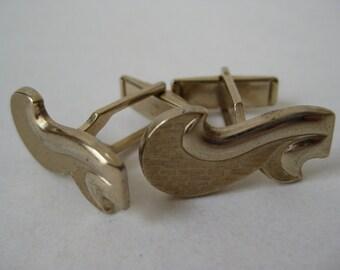 Gold Cuff Links Swish Vintage