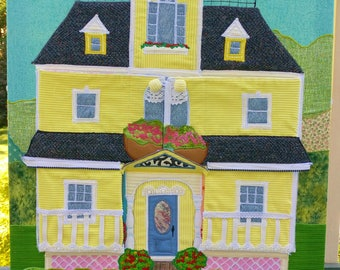 Dollhouse Wall Hanging - Fabric Applique