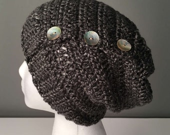 WOMEN'S HADLEY Slouchy Hat, Women's Hat, Women's Slouchy Beanie, Women's Accessories, Crochet Slouchy Hat, Crochet Beanie, Hat for Women.