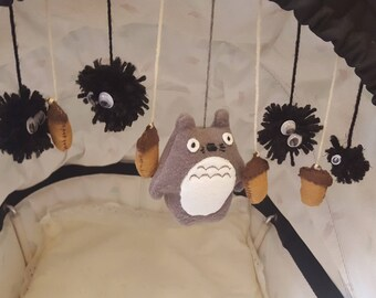 Homemade My Neighbour Totoro characters for a mobile