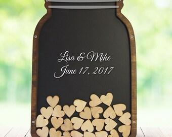 Mason jar wedding guest book, wedding guest book alternative, wedding guest book, wedding guest book drop box