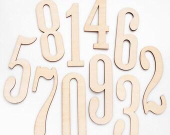 Freckled Fawn Wood Numbers Veneer Set