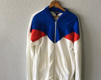 1980's Color Block Piet Mondrian Inspired Vintage Track Jacket