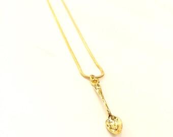 Little spoon charm necklace