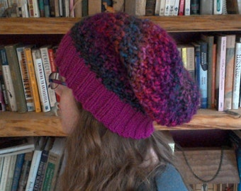 The Sue Hat - Slouchy Hand knit knitted handknit winter hat
