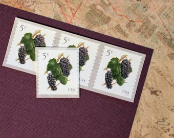 Twenty 5c Grapes and Vine .. Unused US Postage Stamps .. Vineyard Wedding, Tuscan Wedding, Wine, Napa Valley